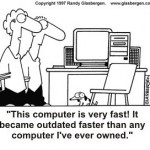 Fast Computer - cartoon